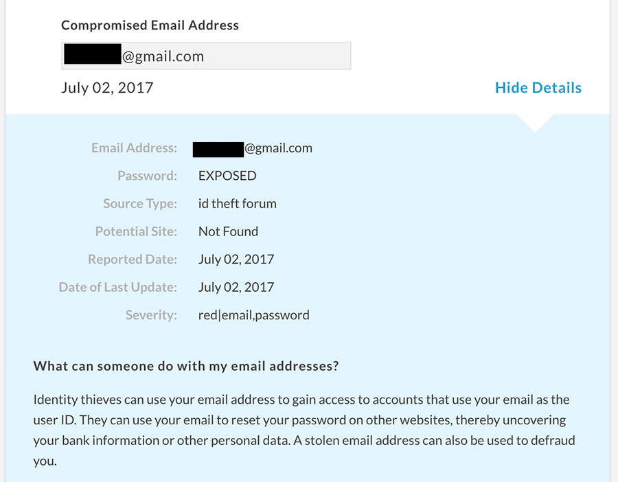 truthfinder email reports